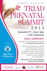 Join us at the Triad Prenatal Summit!!!
